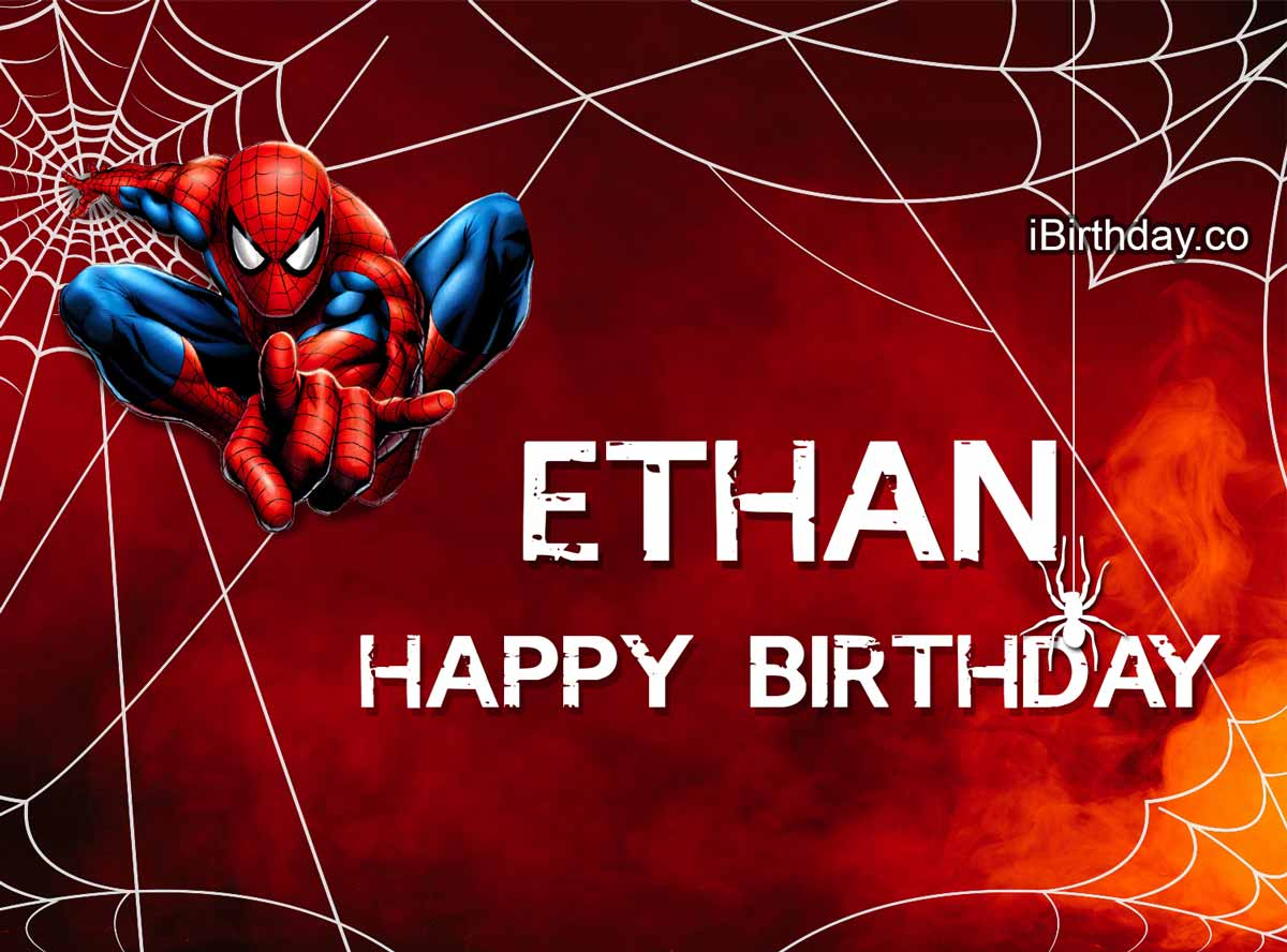 Ethan Spiderman Birthday Meme