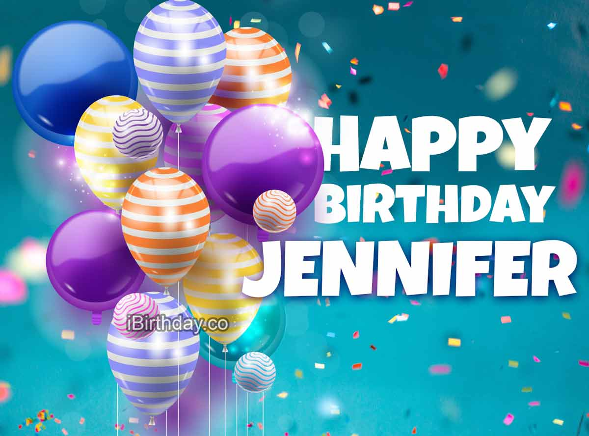 Jennifer Balloons Happy Birthday