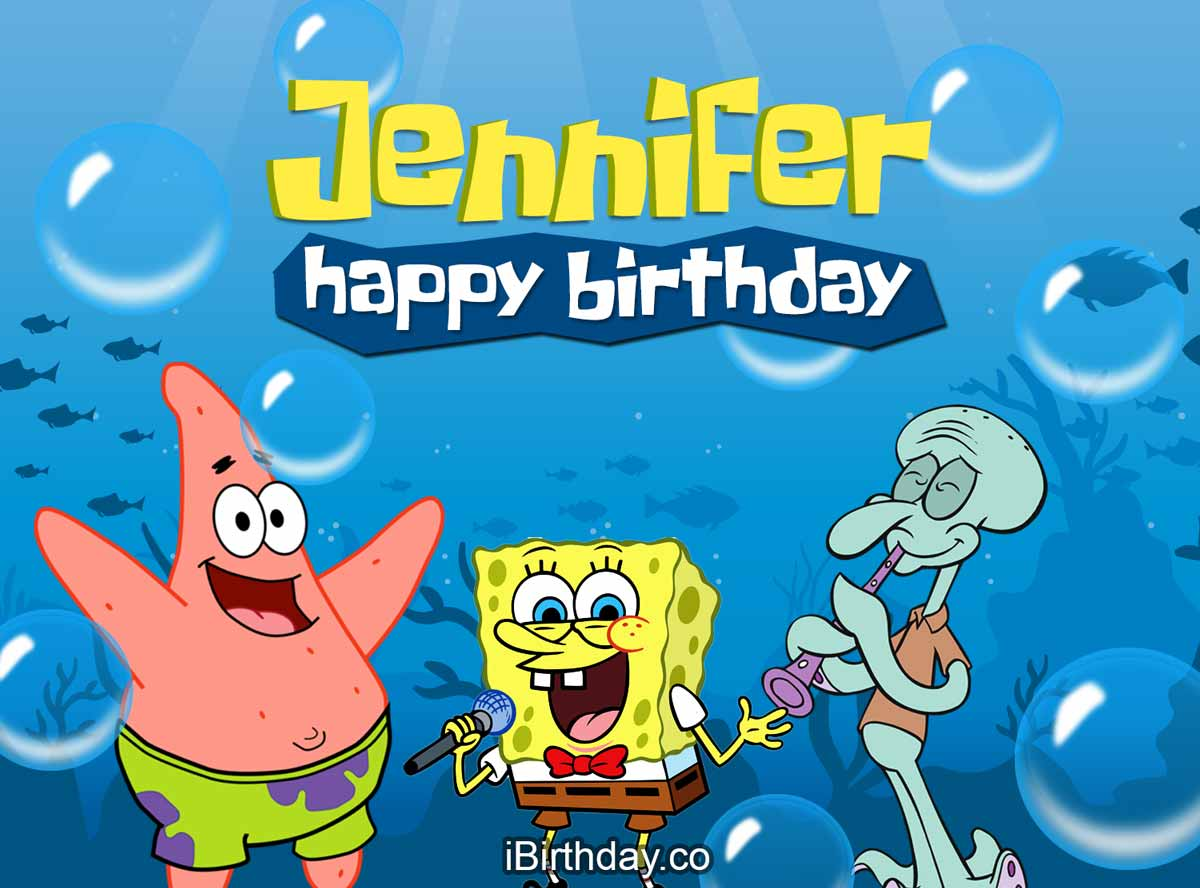 Jennifer Spongebob Birthday Meme