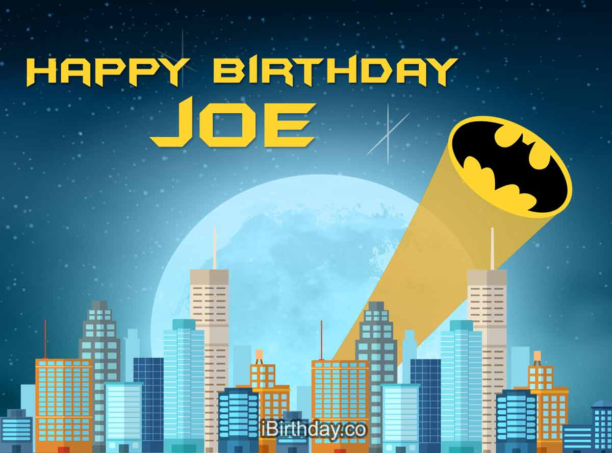 Joe Batman Birthday Meme