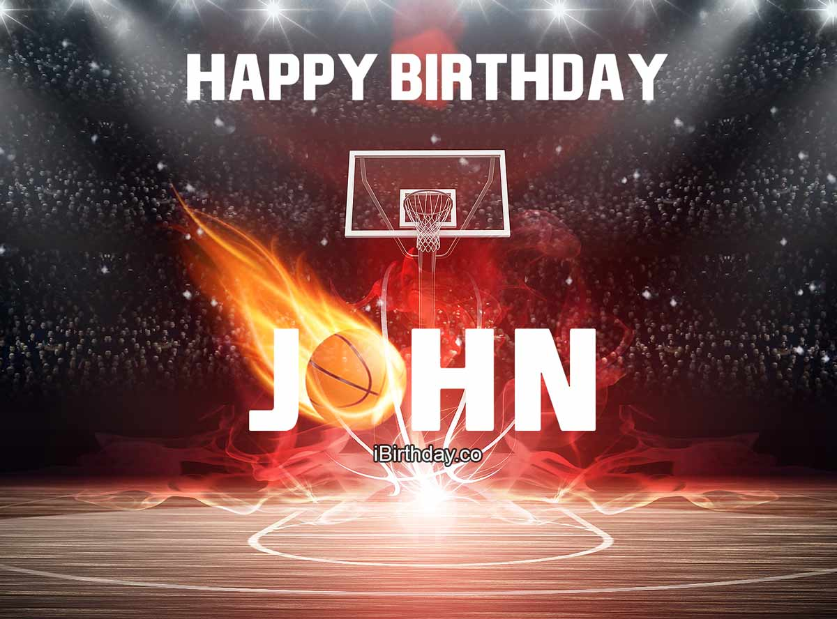 John Basketball Birthday
