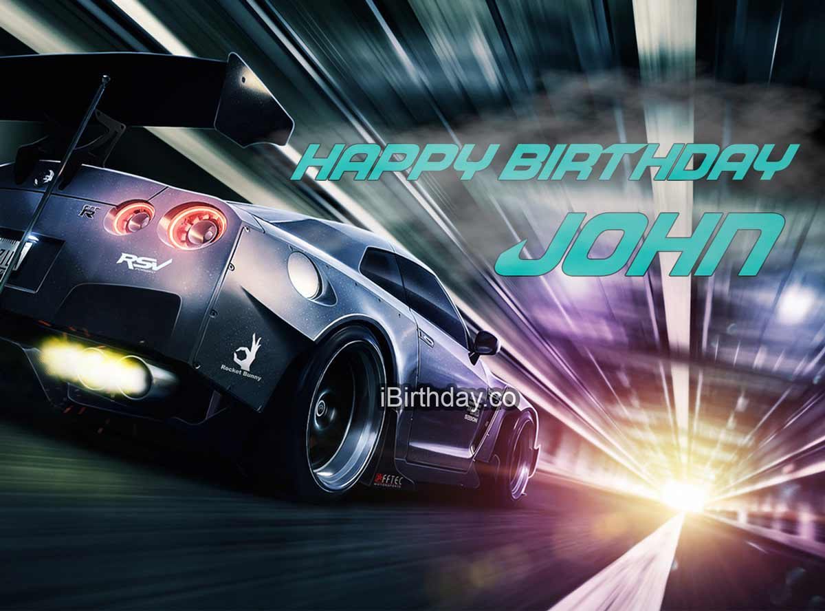 John Need For Speed Birthday