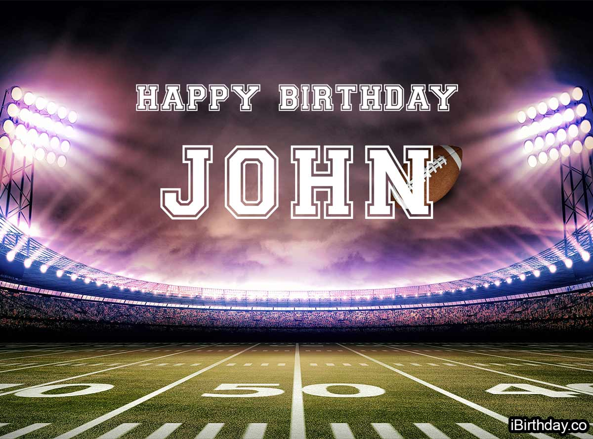 John Football Happy Birthday