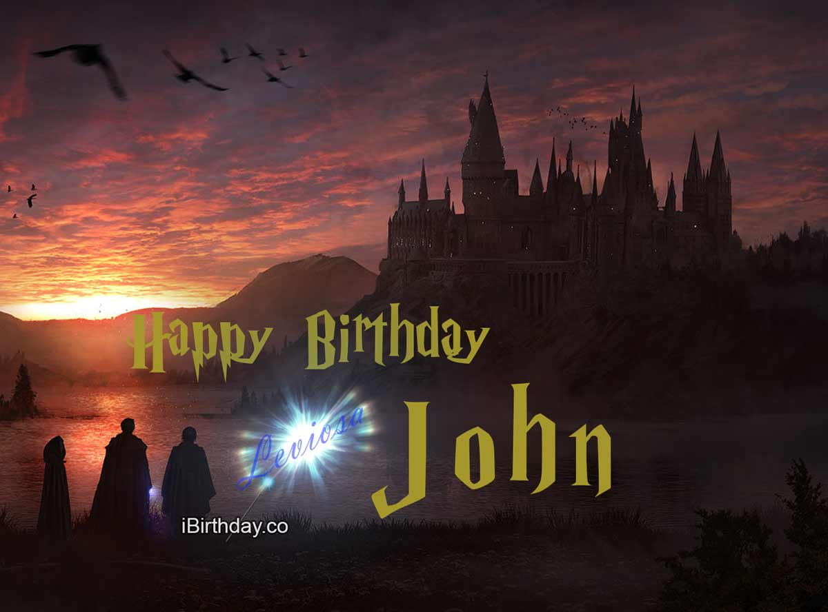 John Harry Potter Happy Birthday