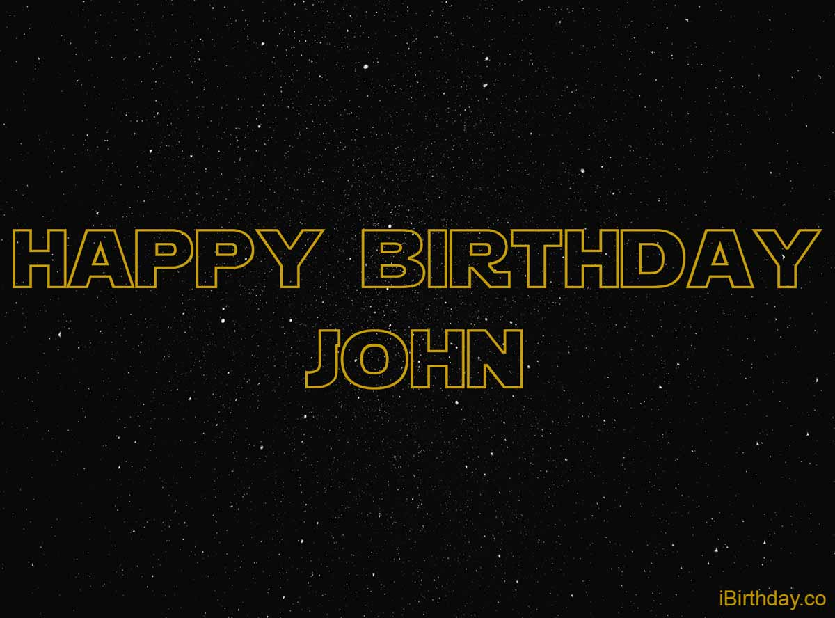 John Star Wars Birthday Meme
