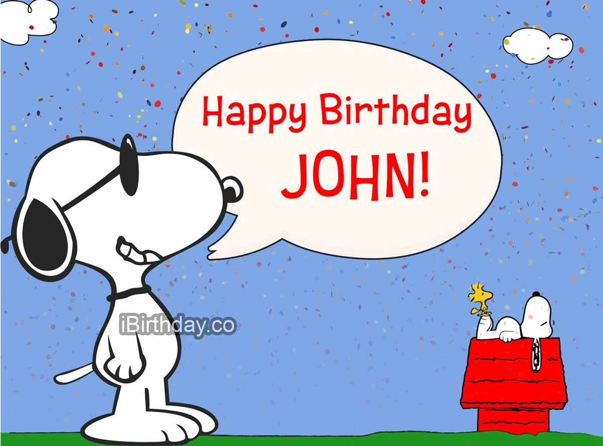 John Snoopy Birthday Meme