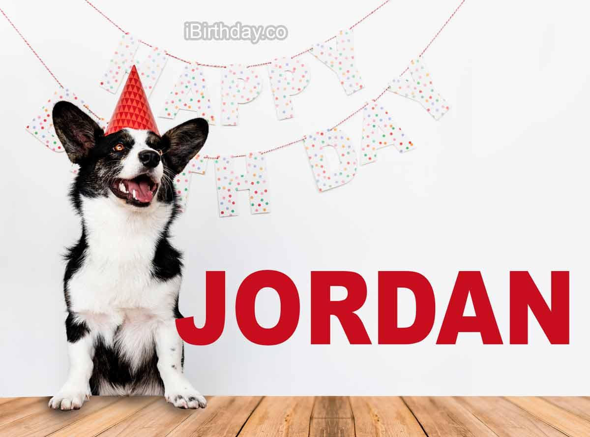 Jordan Dog Happy Birthday Wish