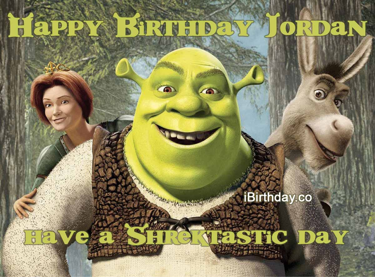 Jordan Shrek Birthday Meme