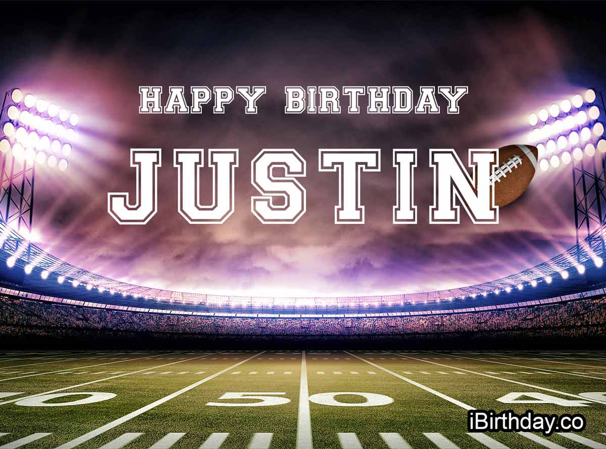 Justin American Football Birthday Meme
