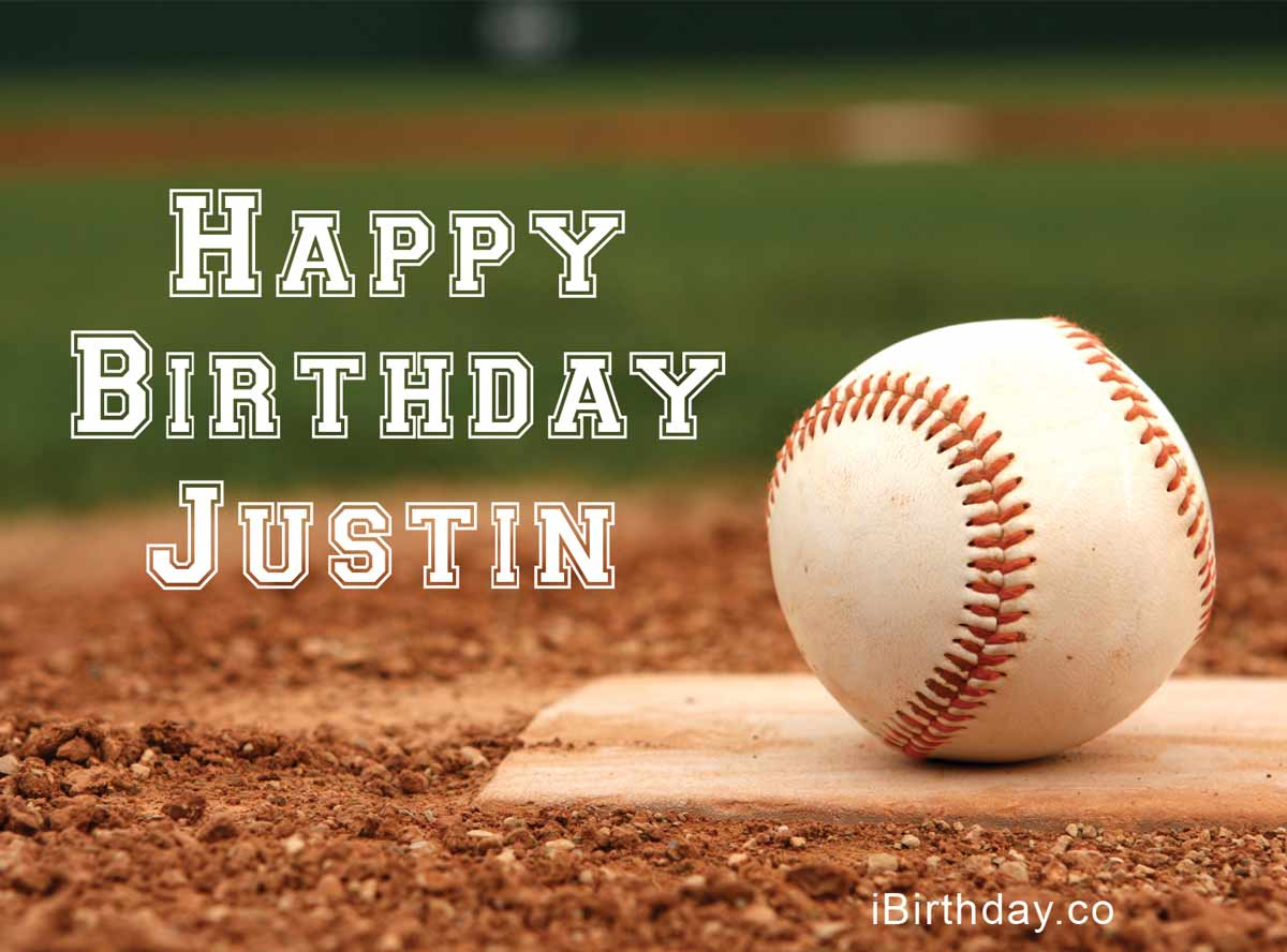 Justin Baseball Birthday Meme