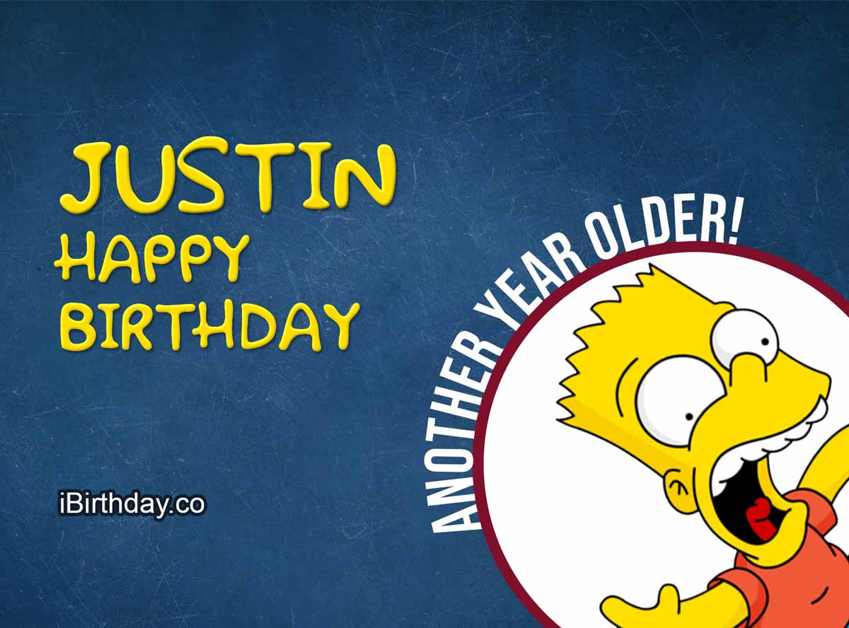 Justin Happy Birthday Bart Simpson Meme