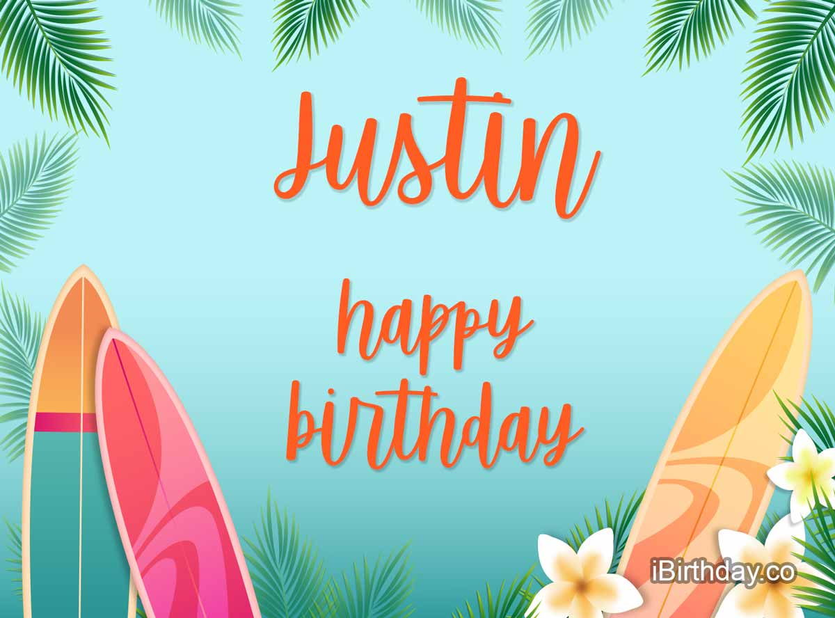 Justin Surfing Birthday Meme