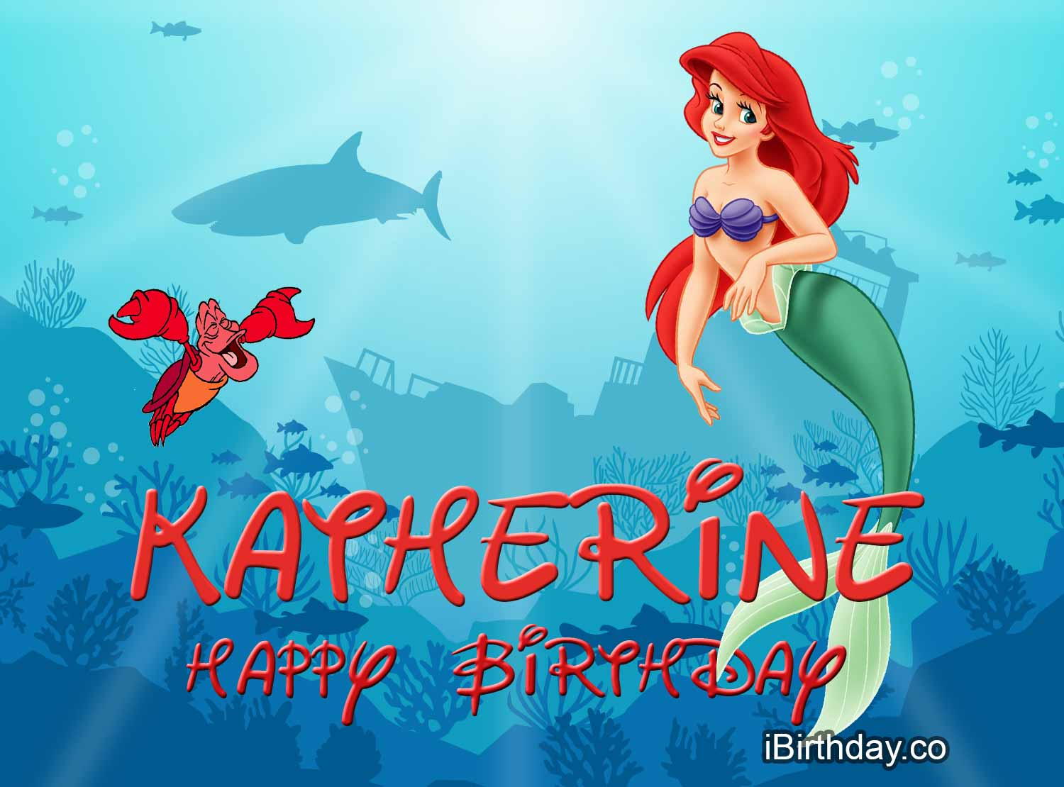 Katherine Little Mermaid Birthday Wish