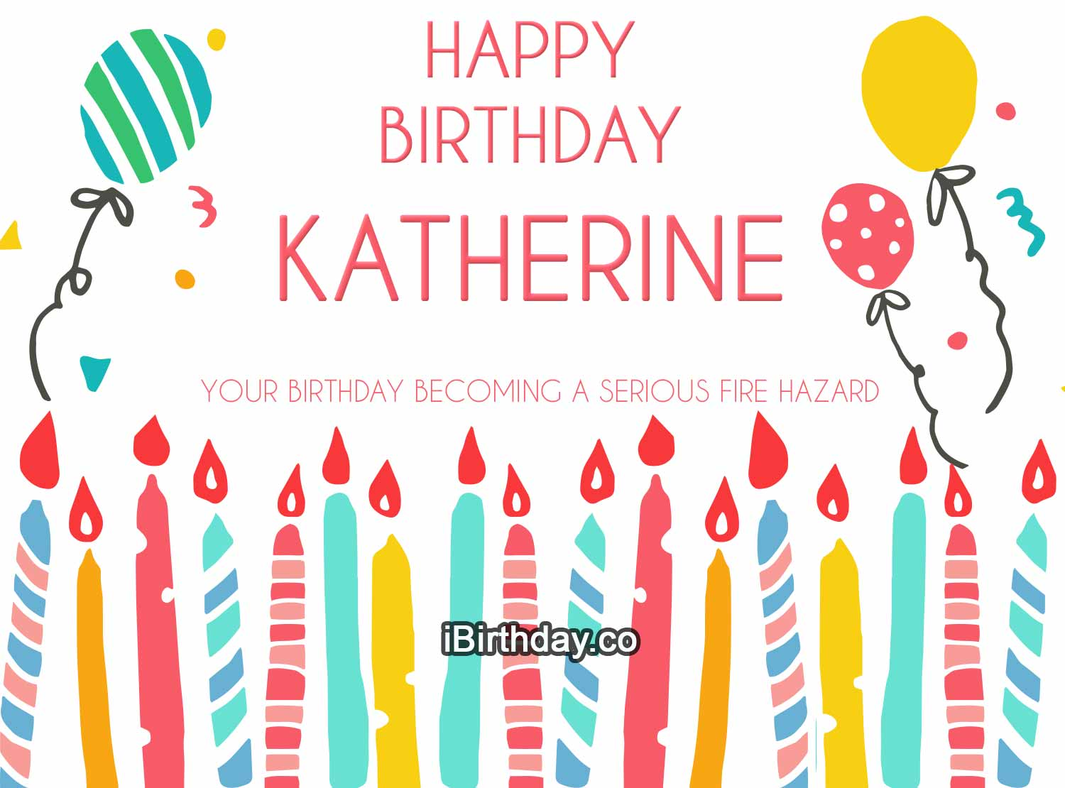 Katherine Candles Happy Birthday