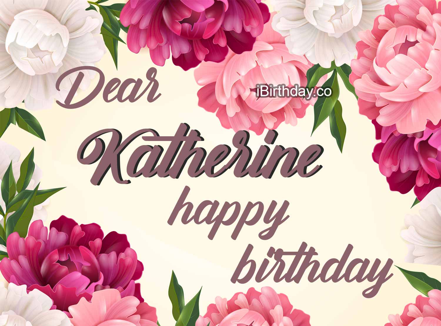Katherine Flowers Happy Birthday