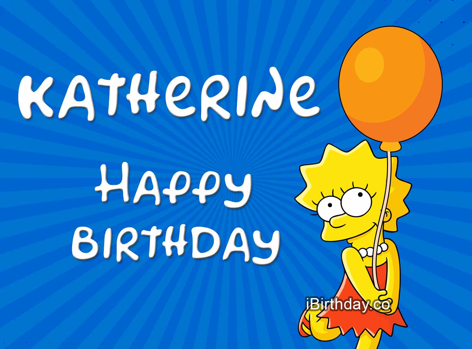 Katherine Lisa Simpson Birthday Meme