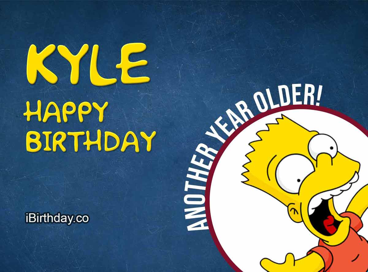 Kyle Bart Simpson Birthday Meme