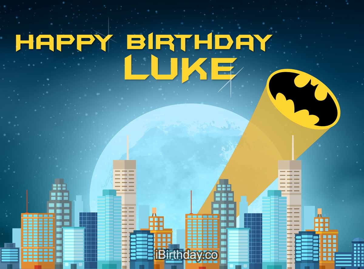 Luke Batman Happy Birthday