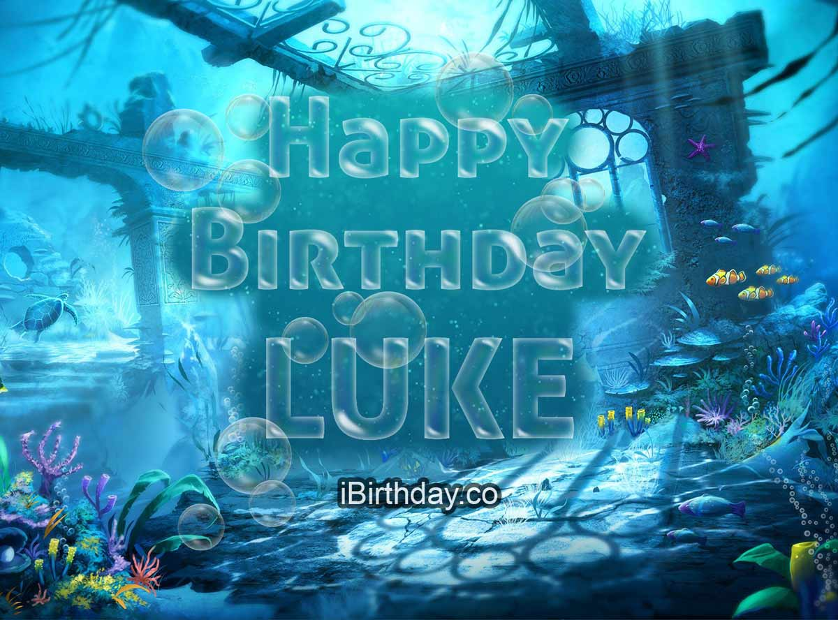 Luke Happy Birthday Bubbles