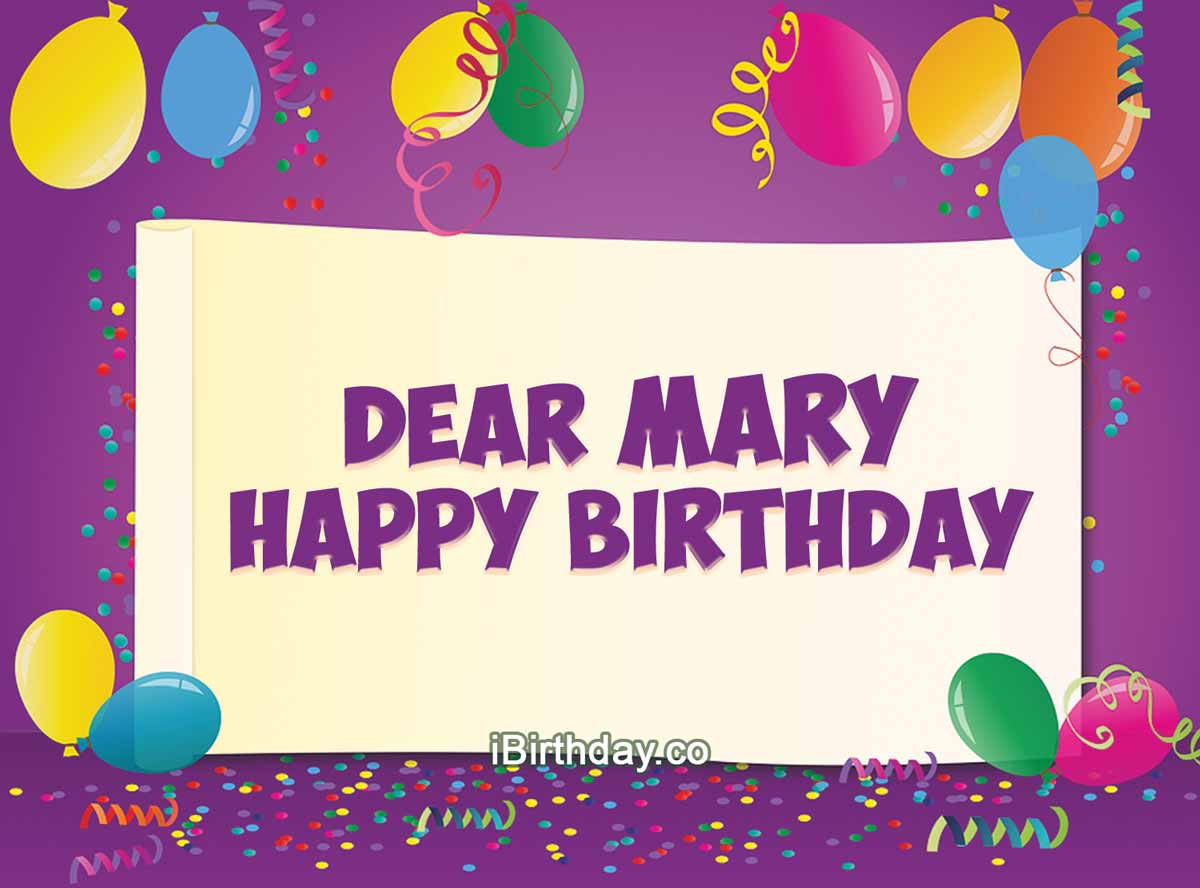 Mary Birthday Ballon wishes