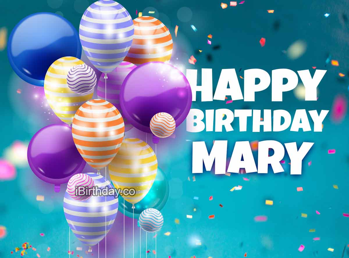 Mary Happy Birthday Balloons