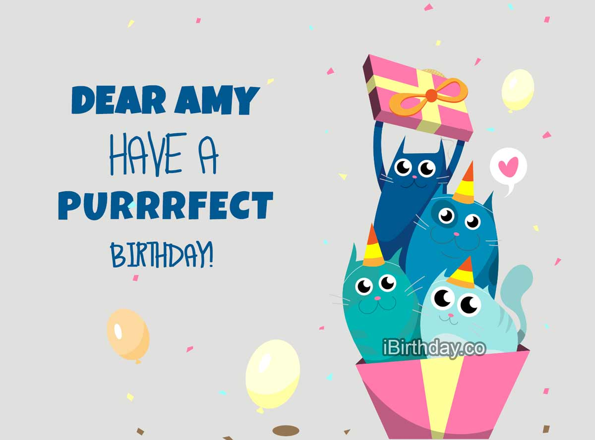 Mary Birthdy Cats Wish