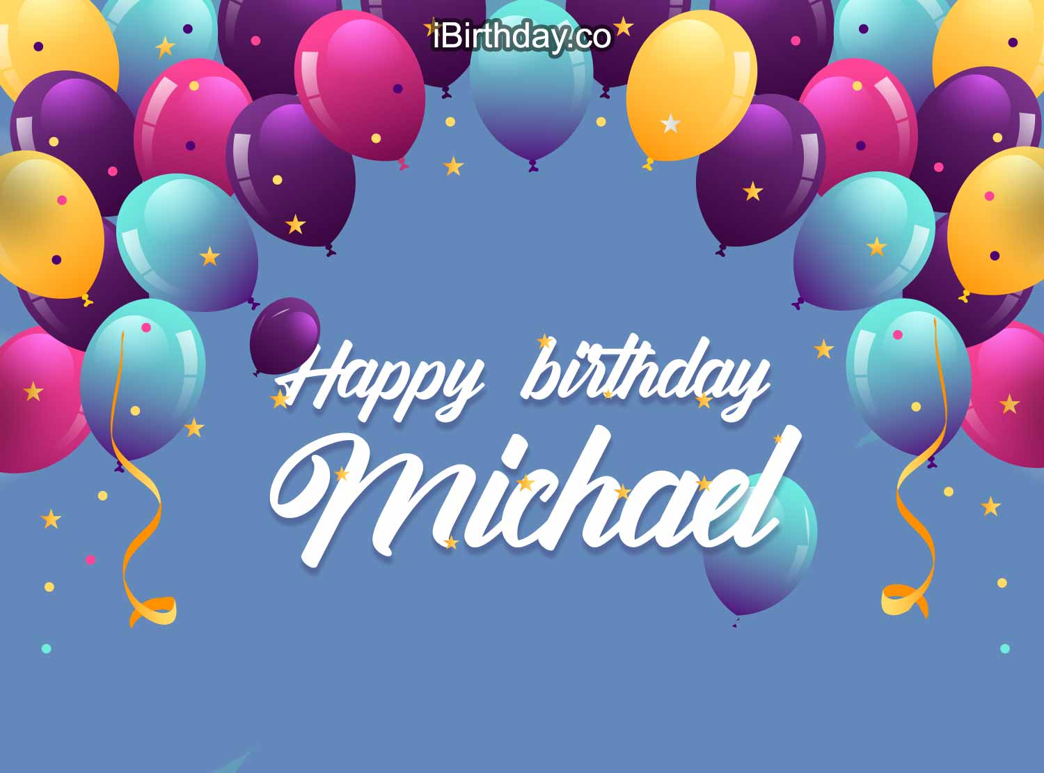 Happy Birthday Michael Ballons