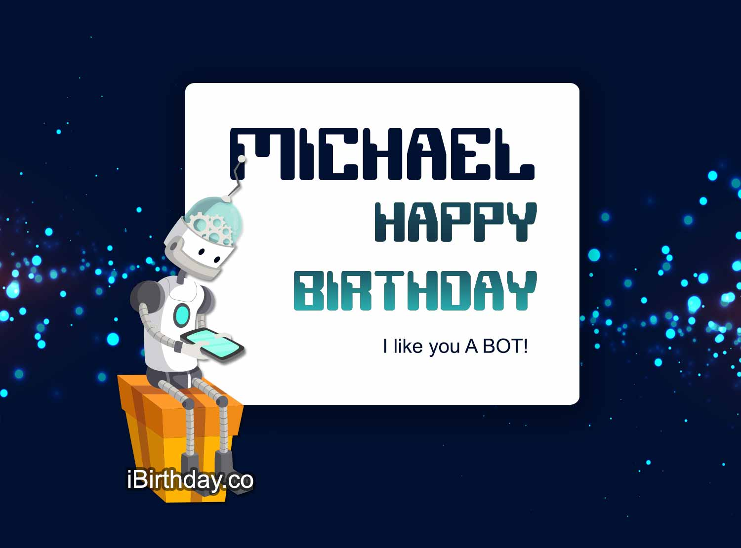 Michael Robot Birthday Meme