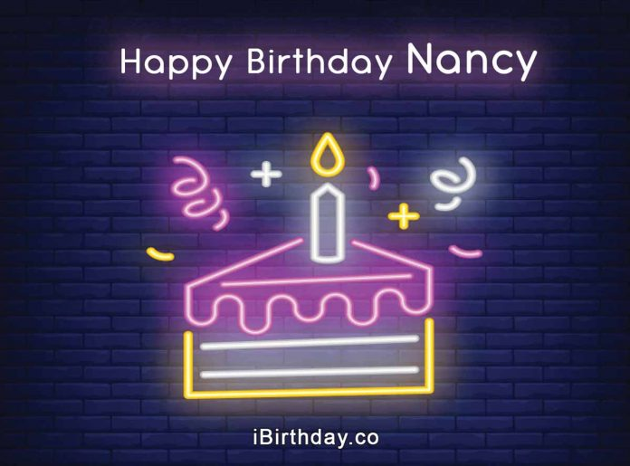 Nancy Happy Birthday Cake Slice