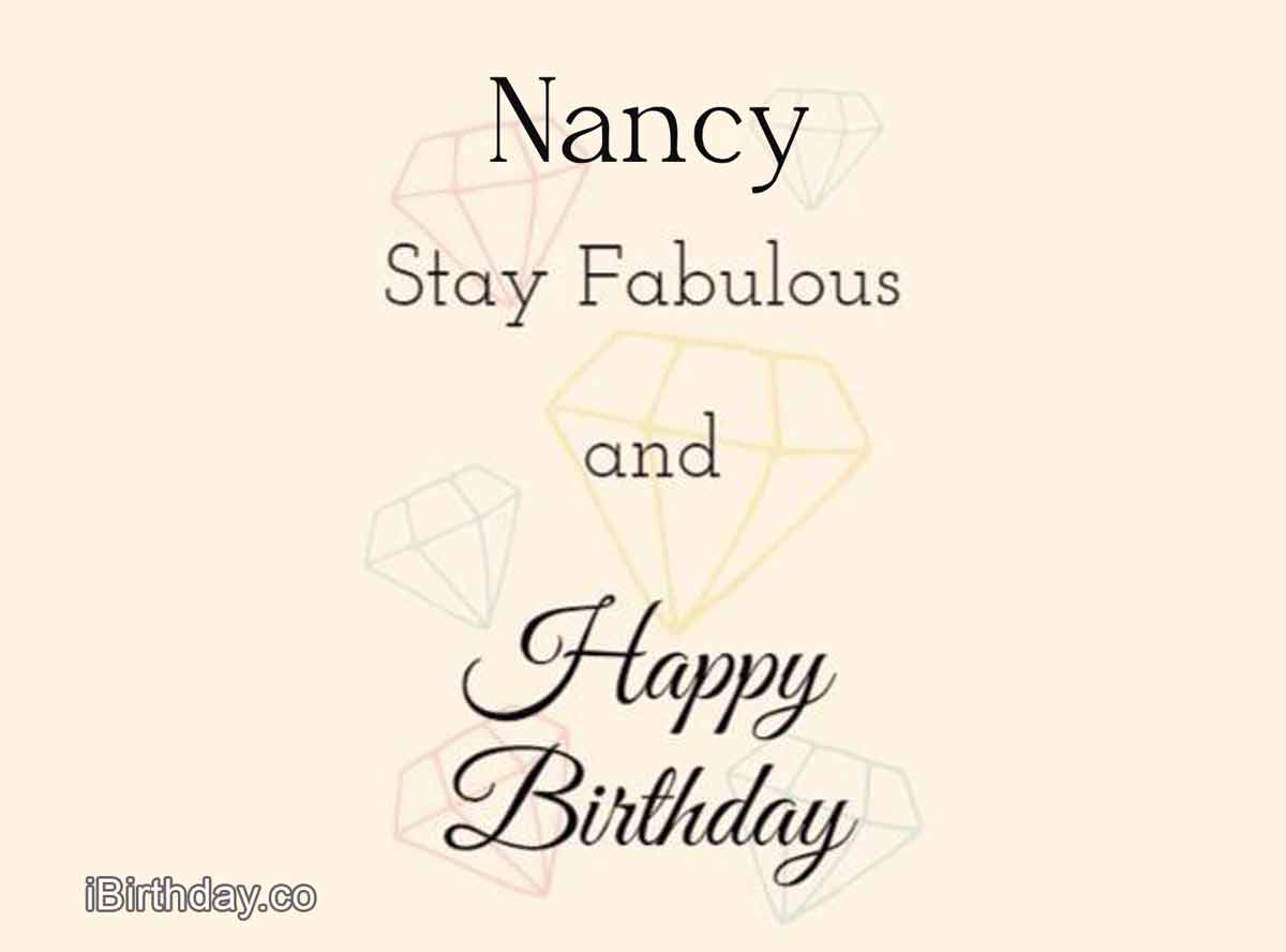 Nancy Birthday Diamond