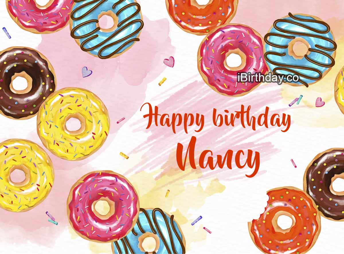 Nancy Birthday Donuts Happy Birthday