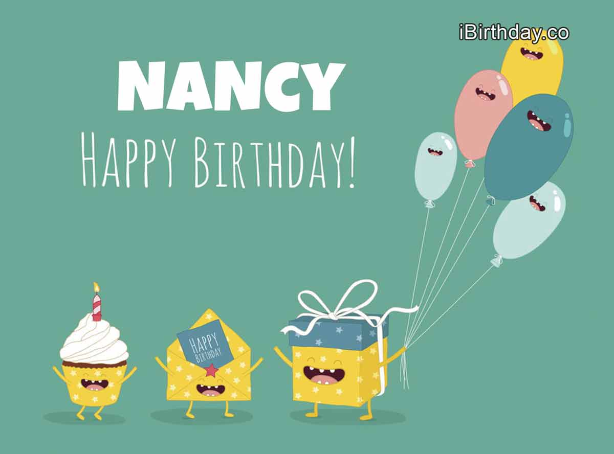 Nancy Birthday Greeting Card