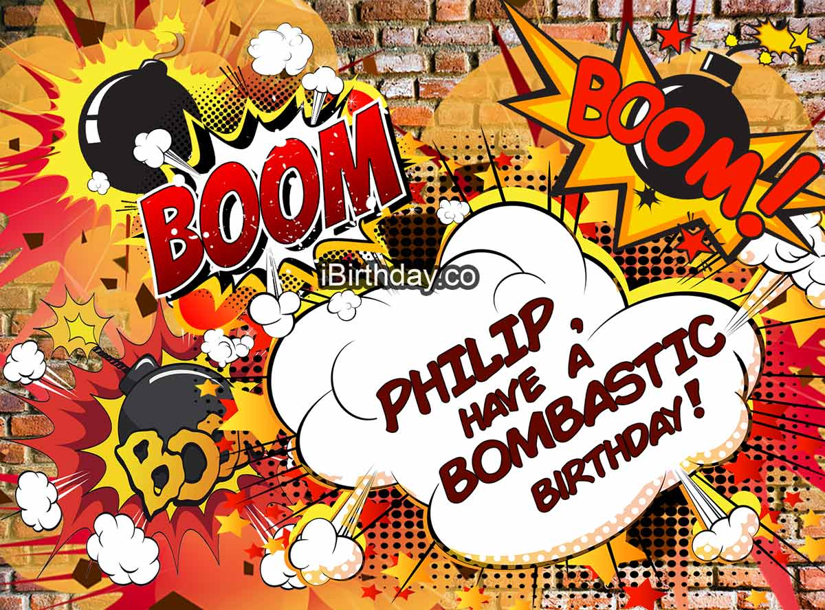 Philip Bomb Birthday Meme