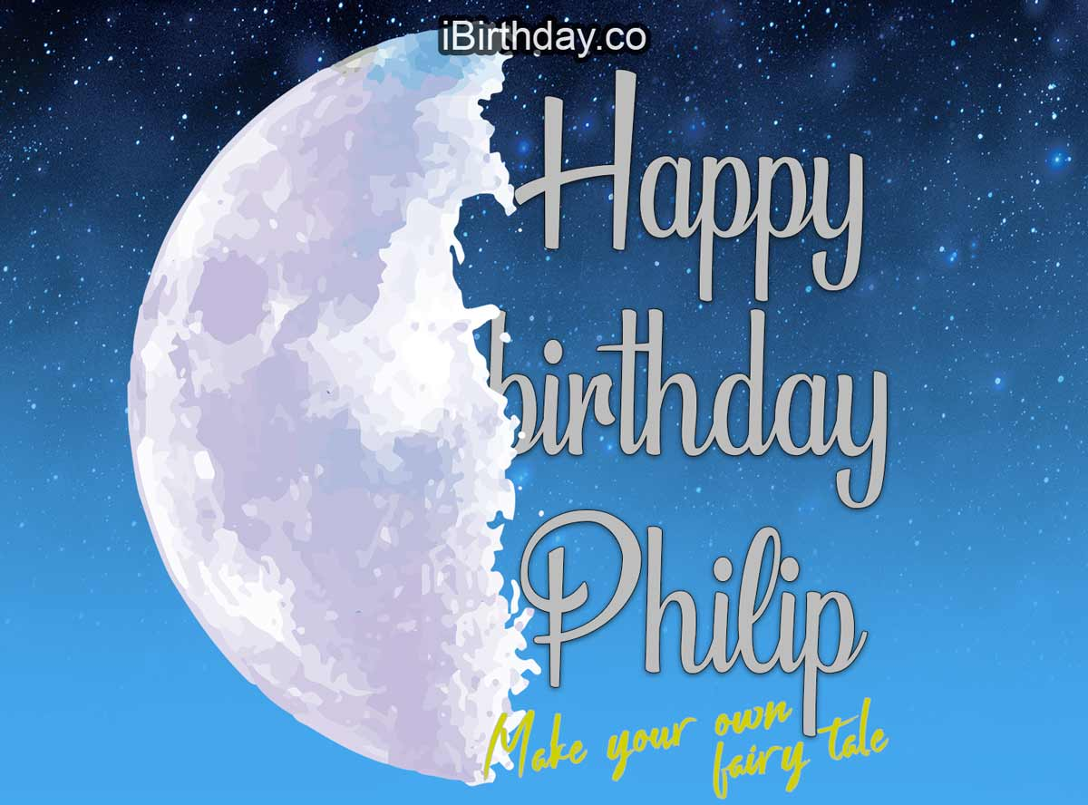 Philip Fairy Tale Birthday Wish