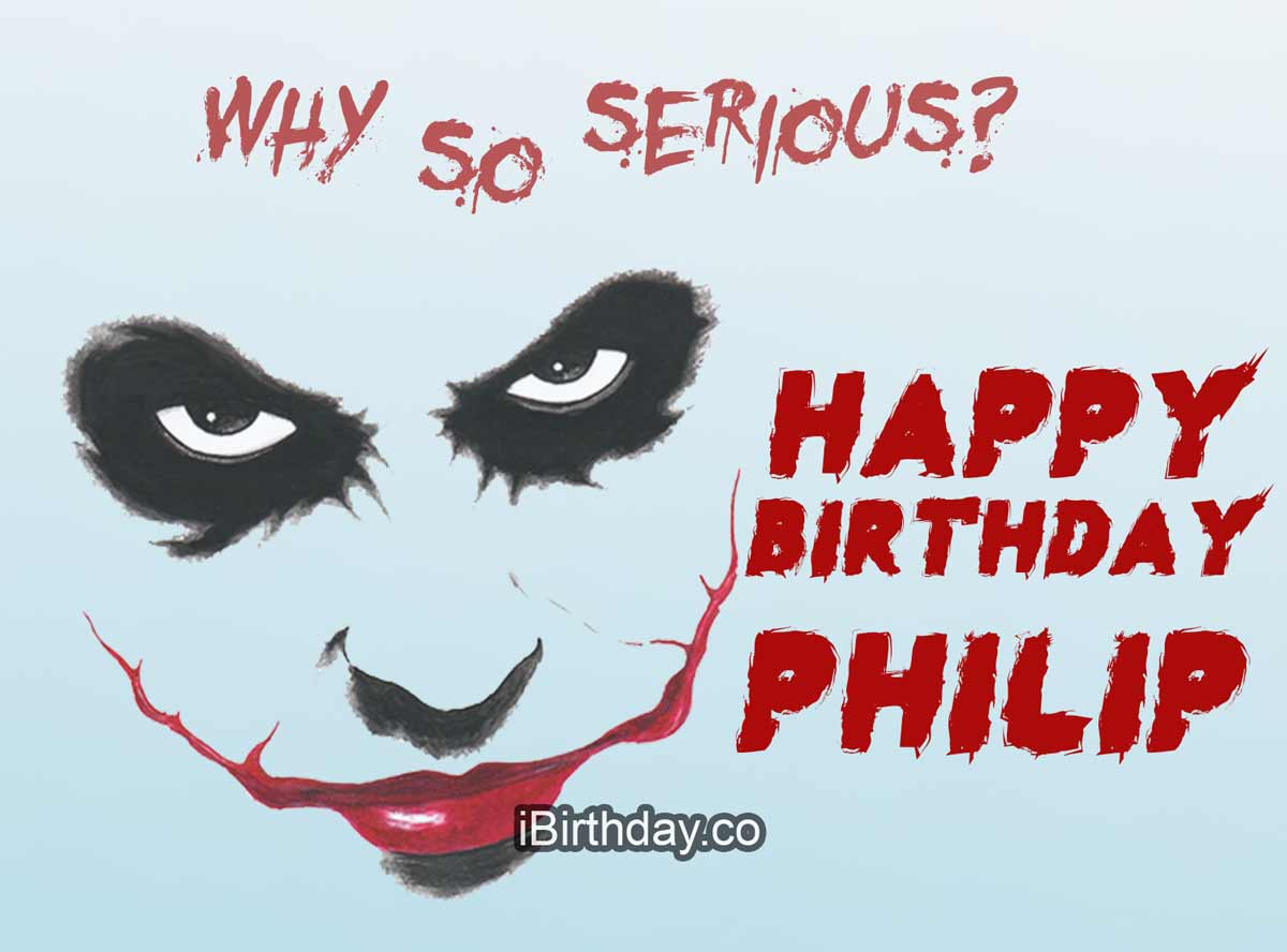 Philip Joker Birthday Meme