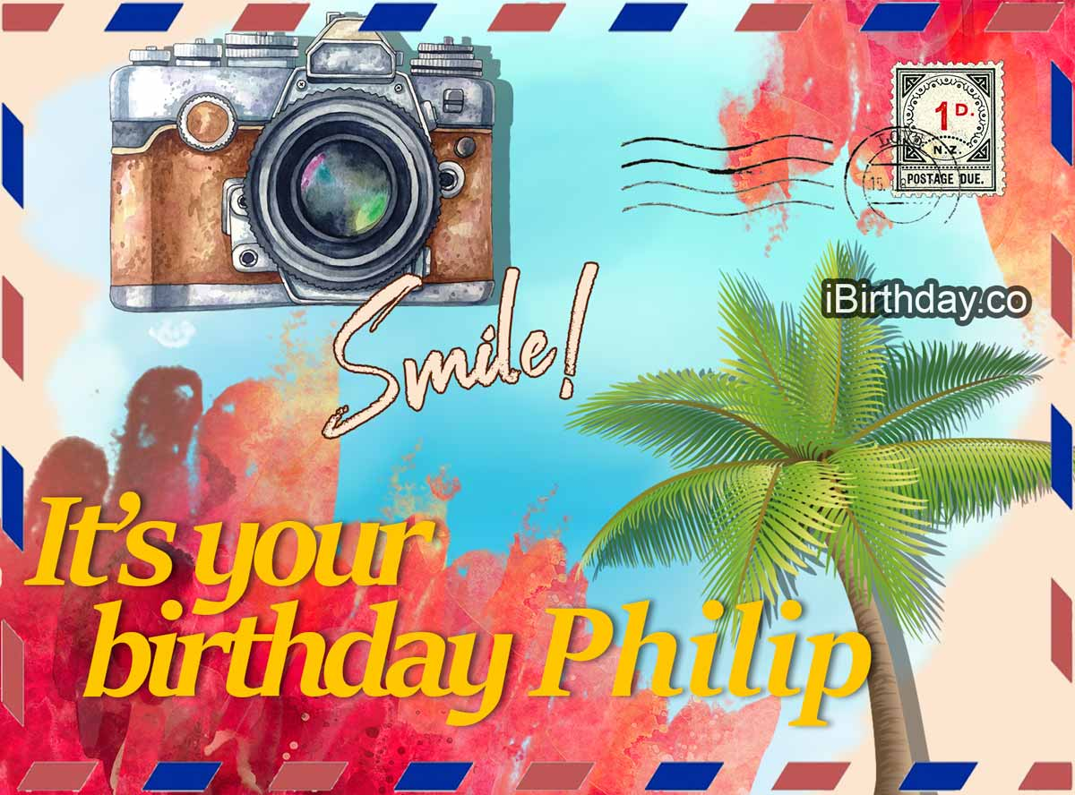 Philip Postcard Happy Birthday Meme