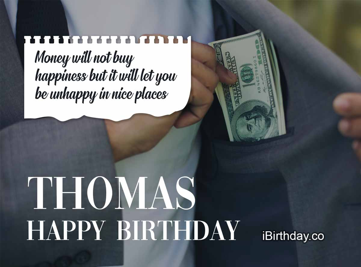 Thomas Money Happy Birthday