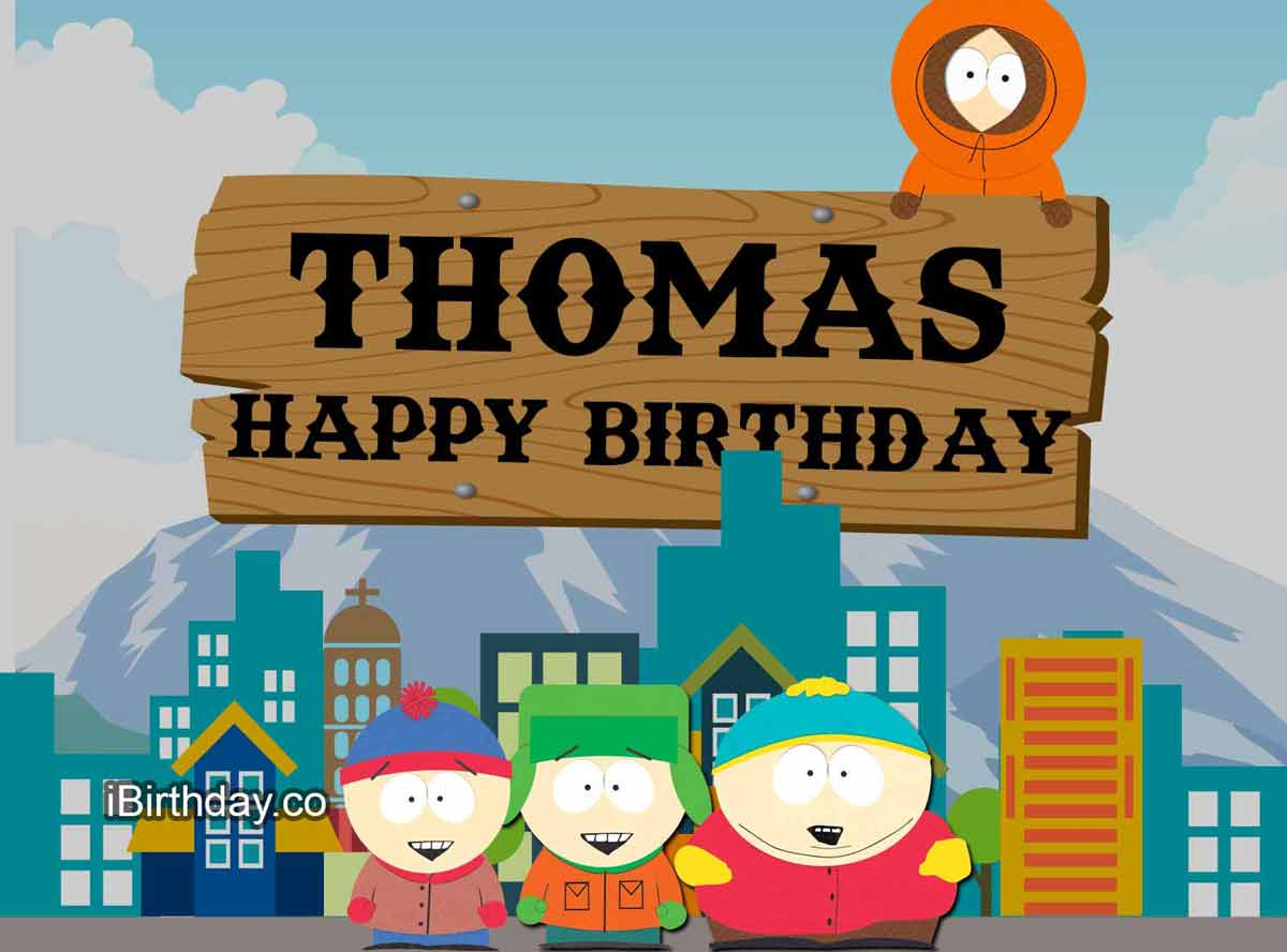 Thomas South Park Birthday Meme