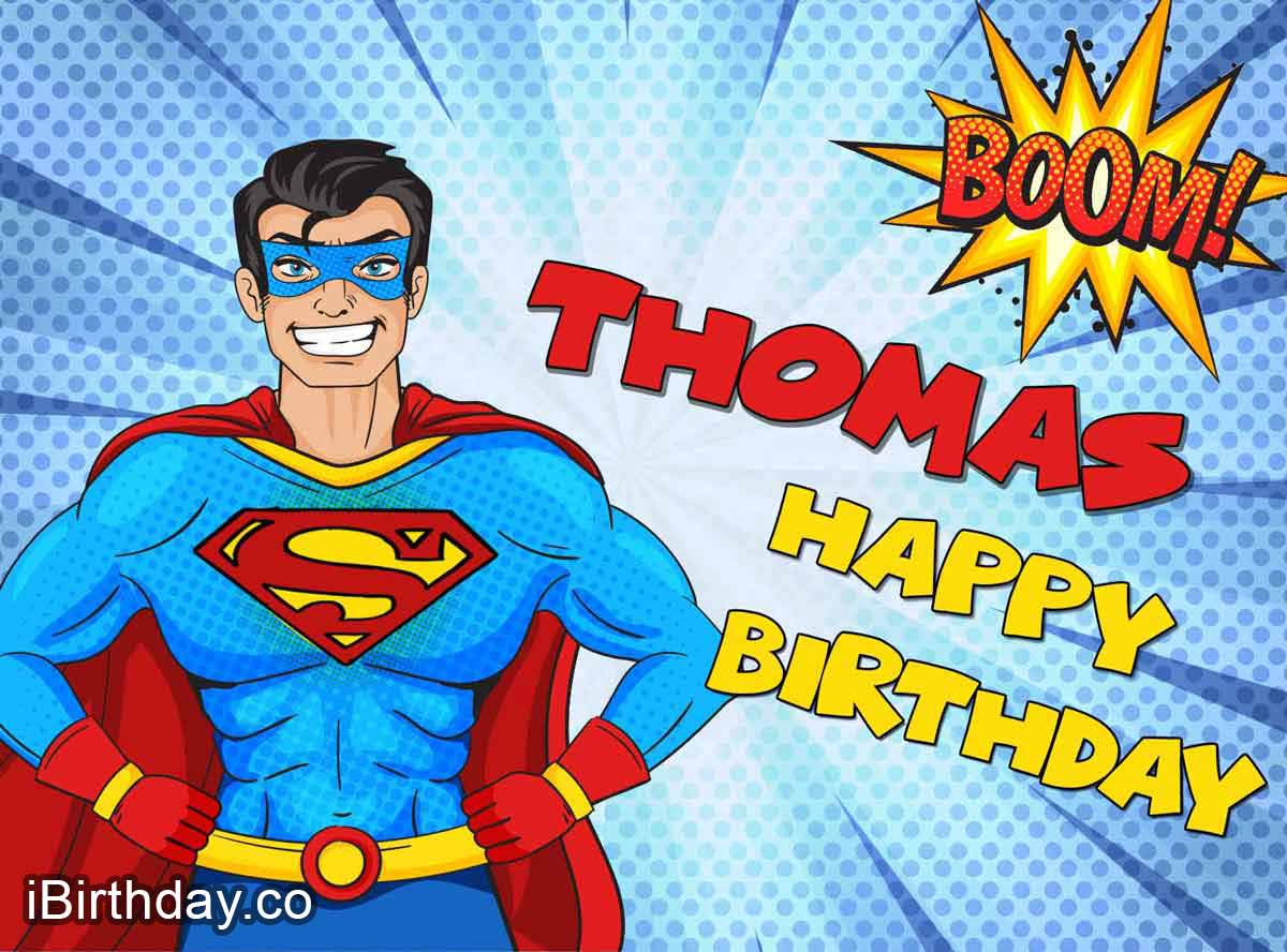 Thomas Superman Comic Birthday Meme