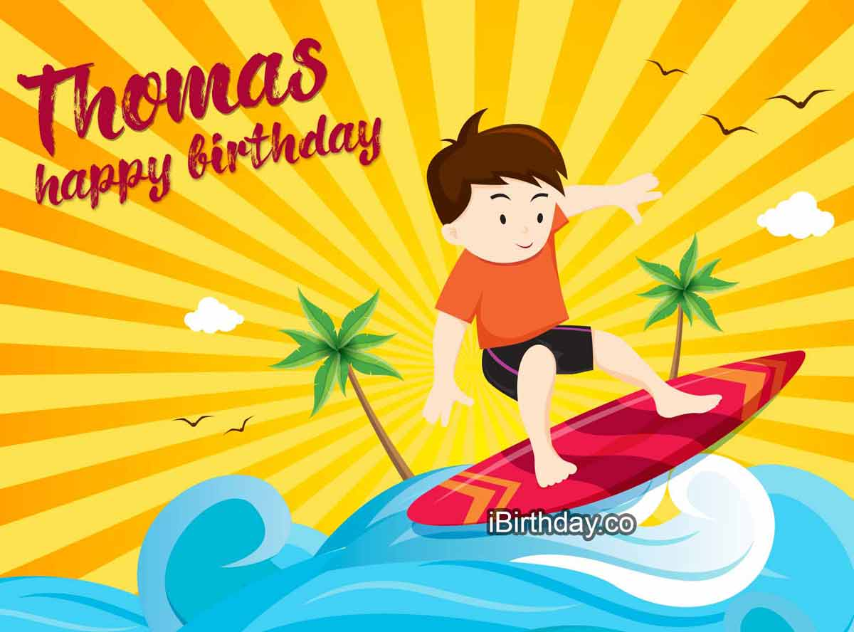 Thomas Surfing Birthday Meme