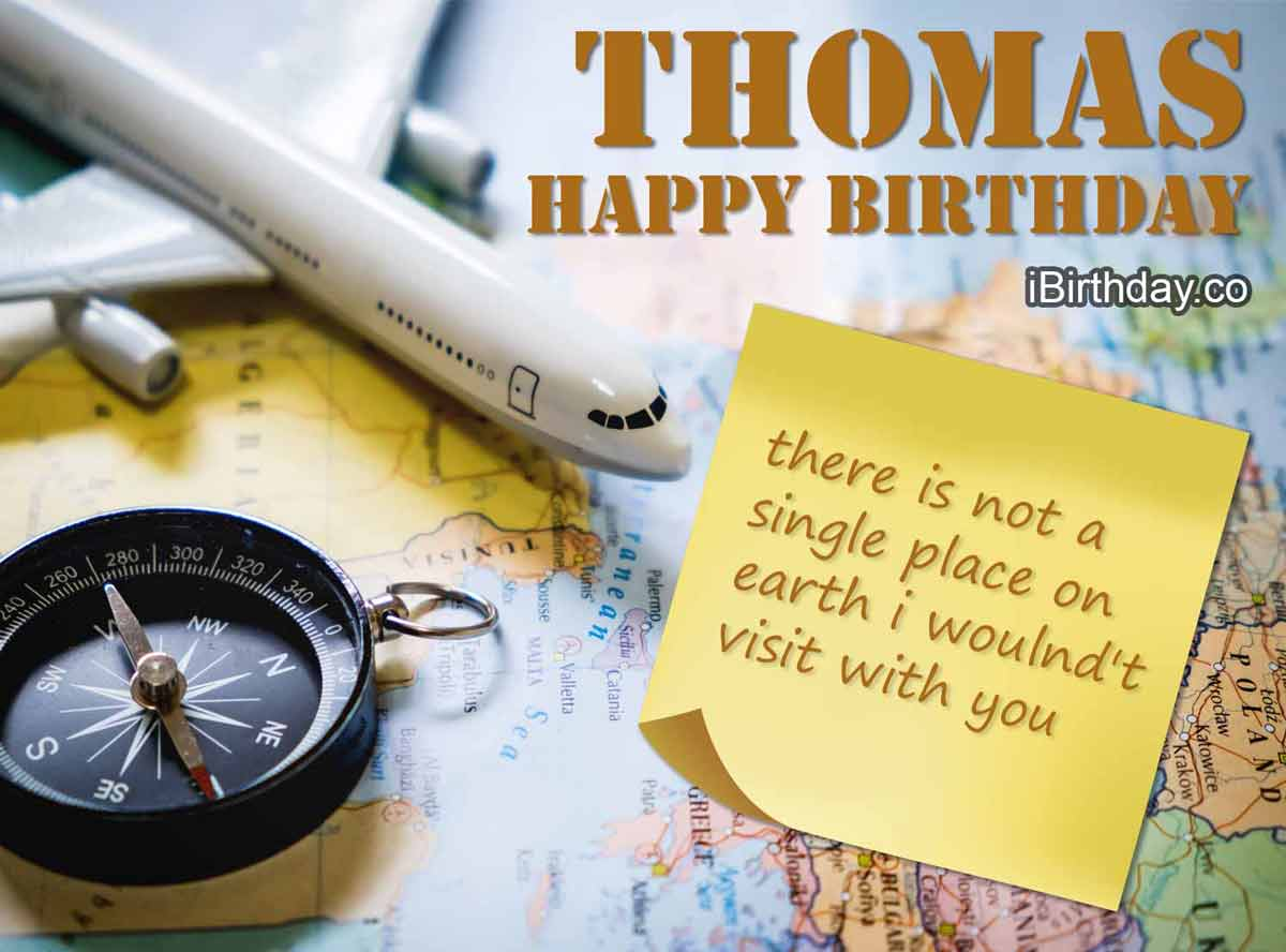 Thomas Travel Birthday Wish
