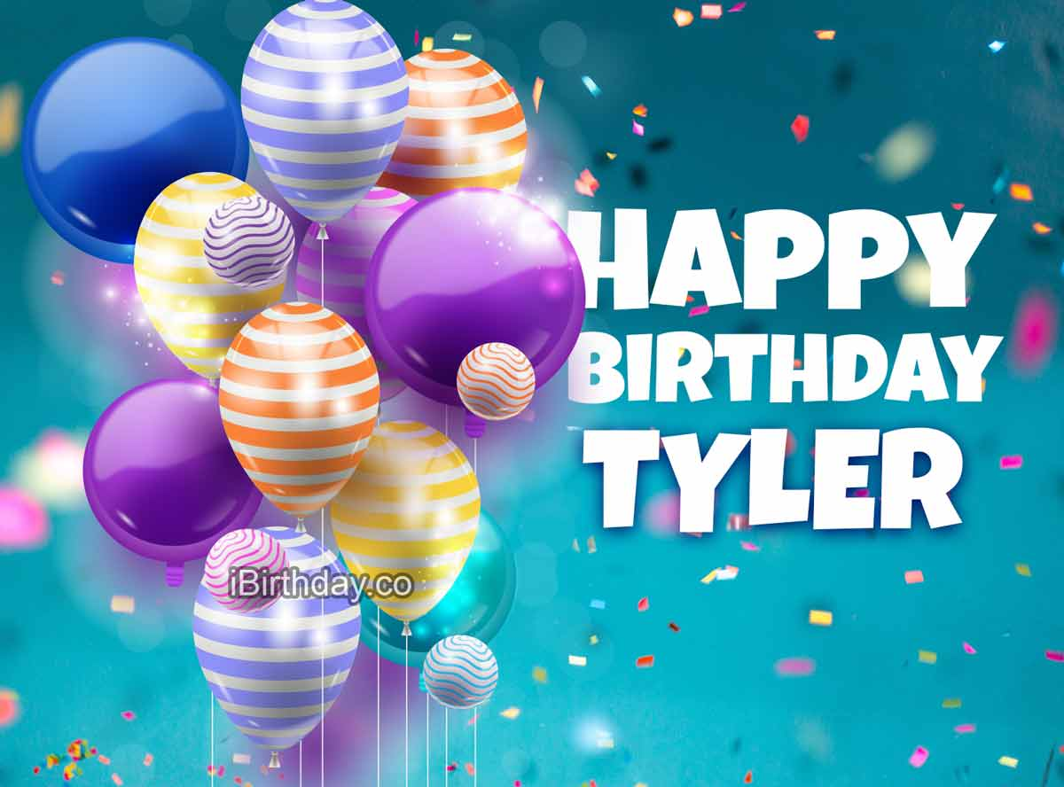 Tyler Happy Birthday Ballons