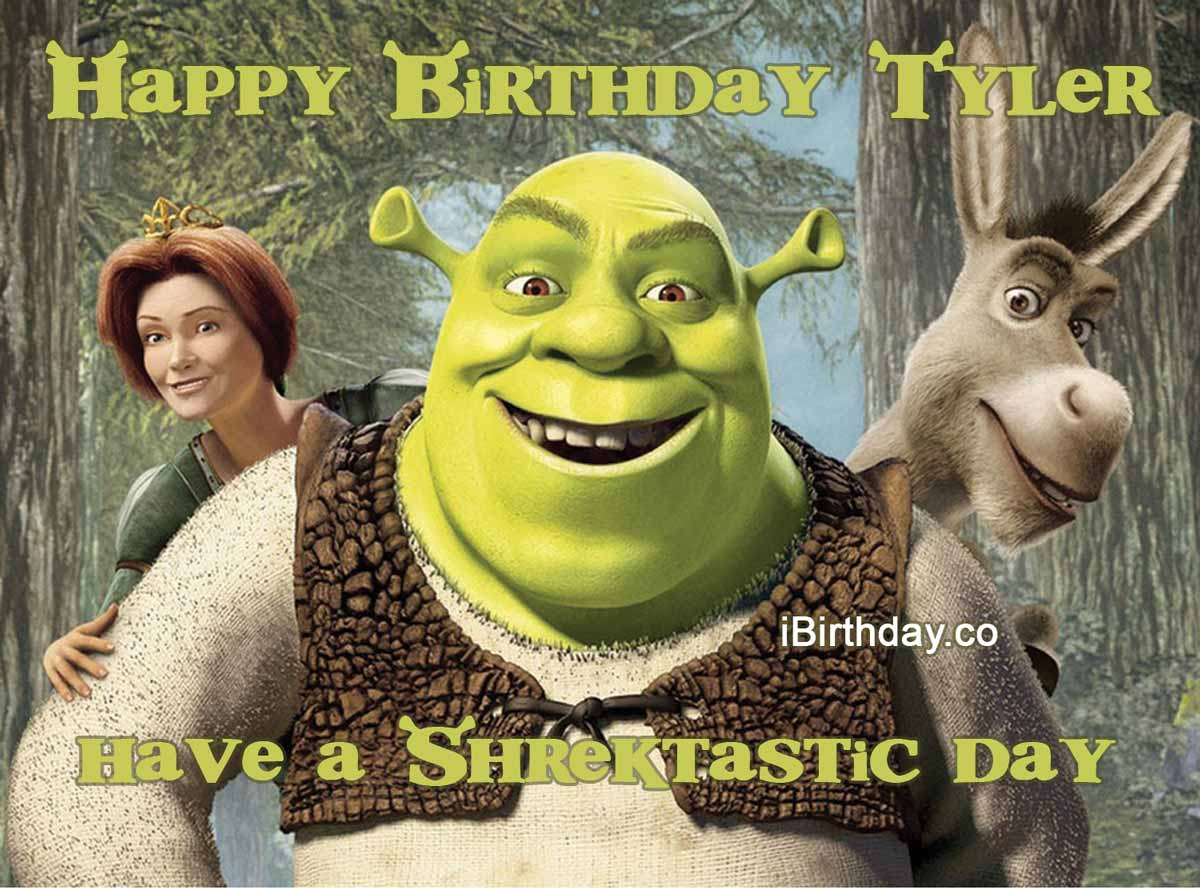 Tyler Shrek Happy Birthday Meme