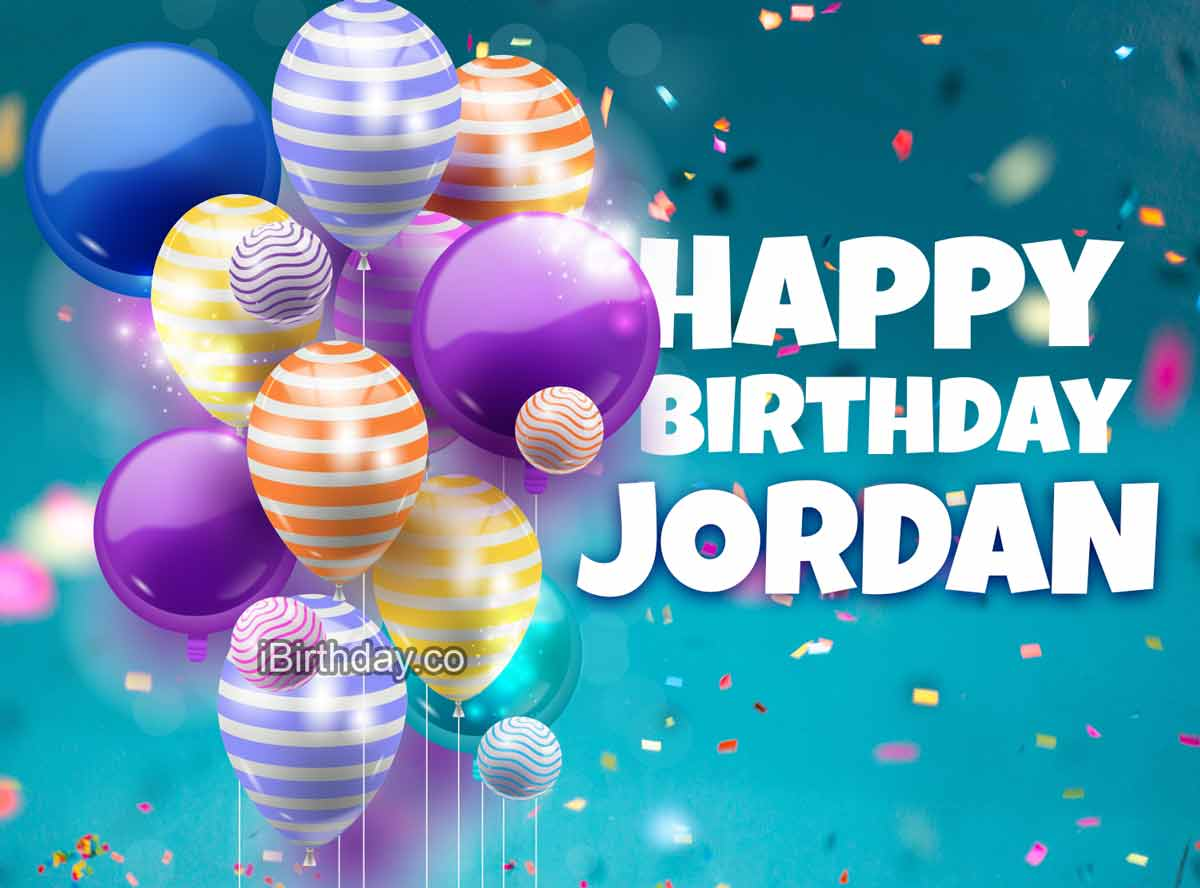 Jordan Happy Birthday Balloons