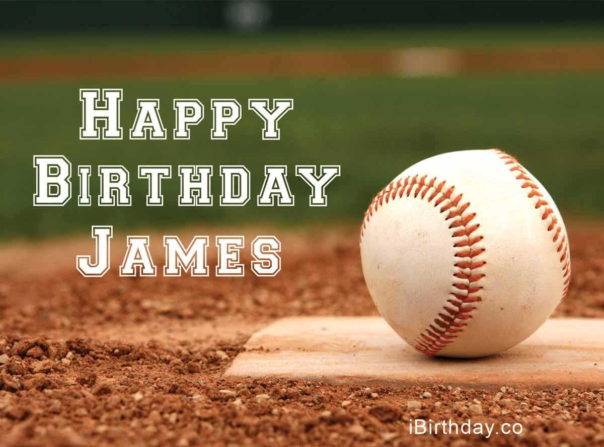James Birthday Baseball Meme