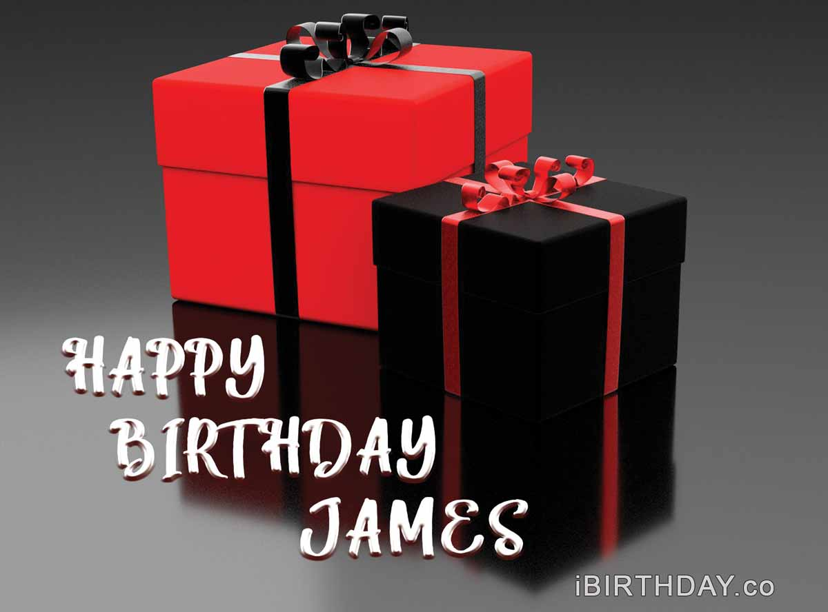 James Happy Birthday Gift Card
