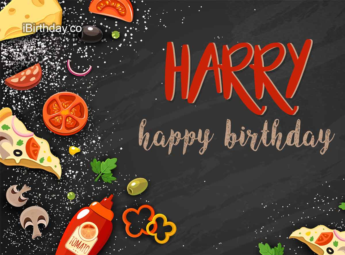 Harry Food Happy Birthday