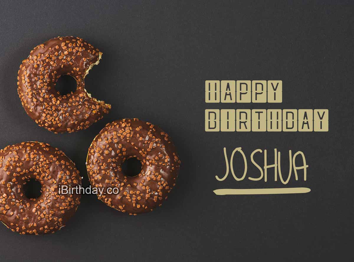 Joshua Donut Birthday Greeting Card