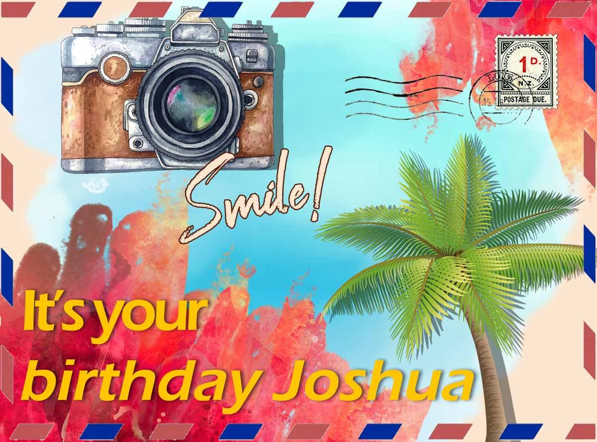 Joshua Postcard Birthday Greeting Card
