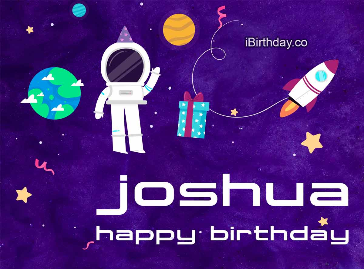 Joshua Spaceman Cartoon Birthday Meme
